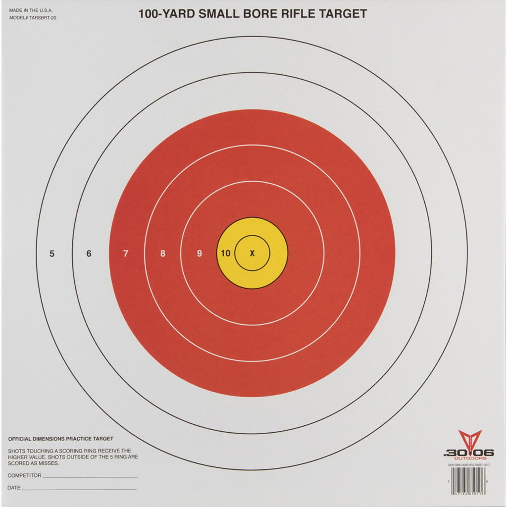 3006 Small Bore Rifle Target  <br>  20 pk.