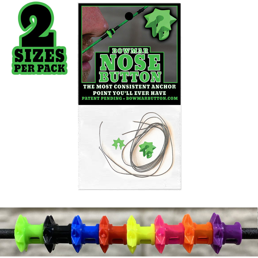 Bowmar Nose Button  <br>  Green 2 pc. Small/Large
