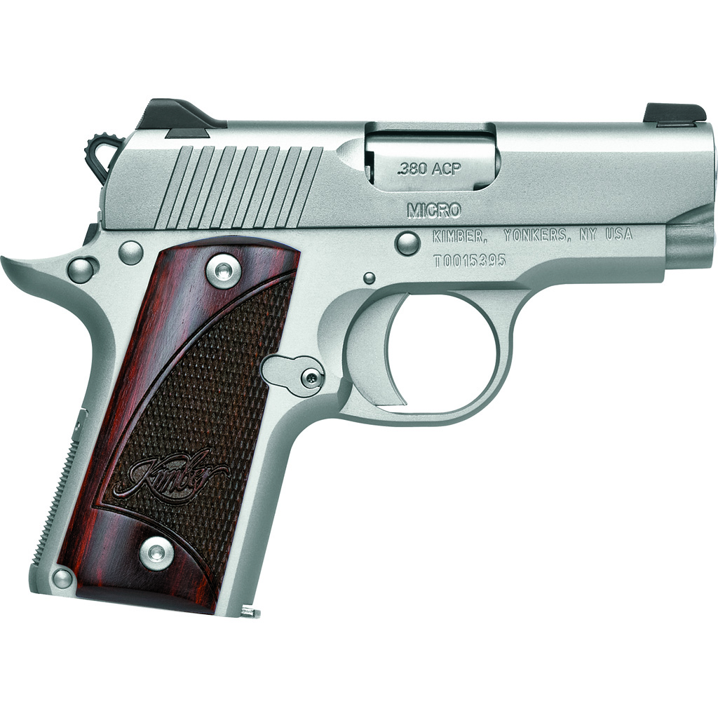 Kimber Micro Pistol  <br>  .380 ACP 5.6 in. Stainless/Rosewood 7+1 rd.