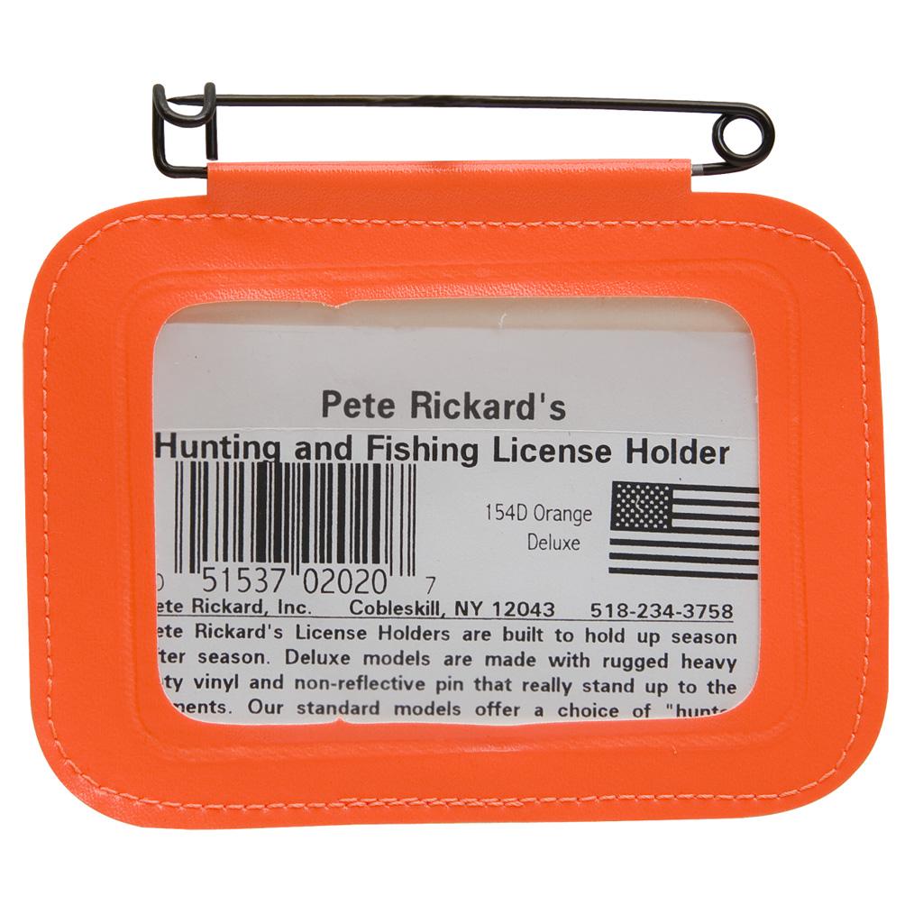 Rickards Hunting License Holder  <br>  Single Orange