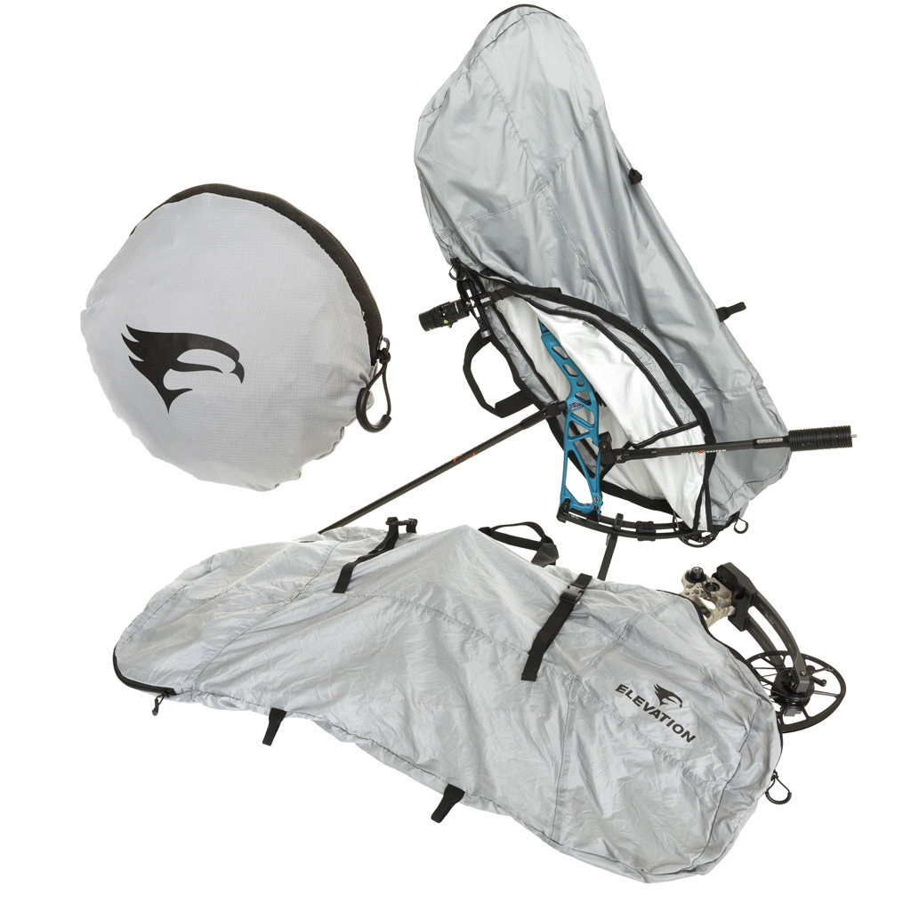 Elevation Packable Bow Cover  <br>  Grey 39 in.