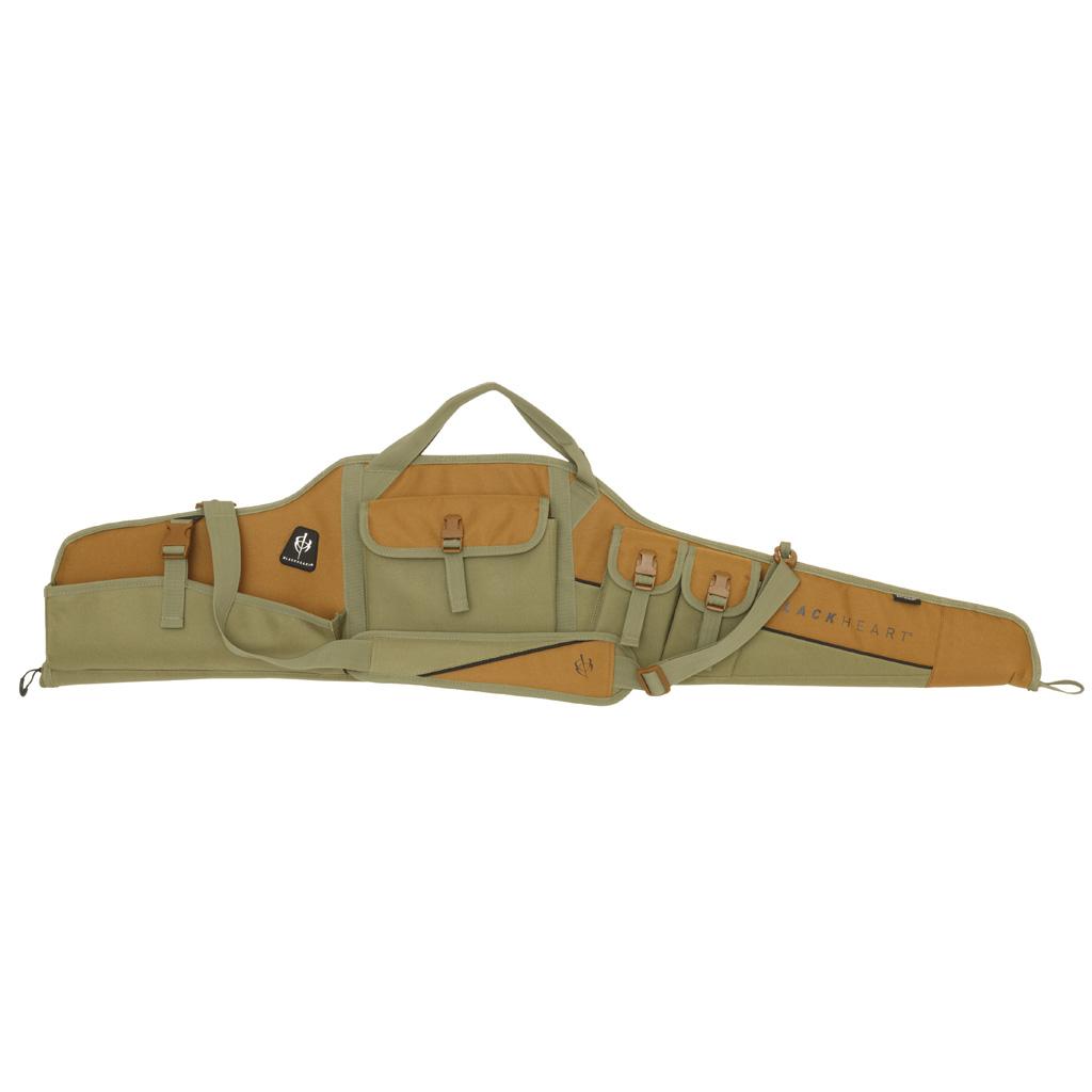 BlackHeart Vital Soft Scoped Rifle Case  <br>  w/ Inhib-X Olive/Brown 48 in.