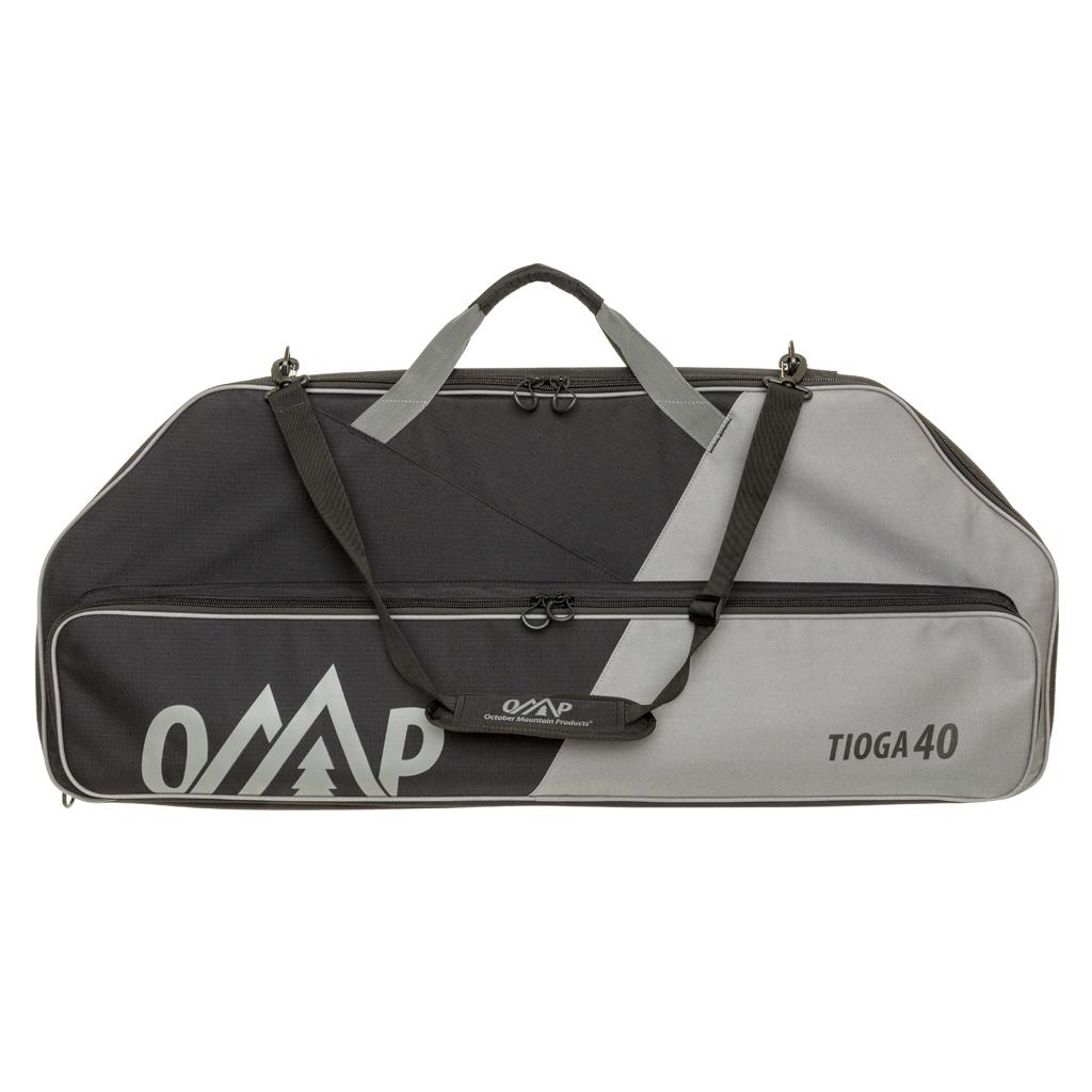 October Mountain Tioga 40 Bow Case  <br>  Black/Grey