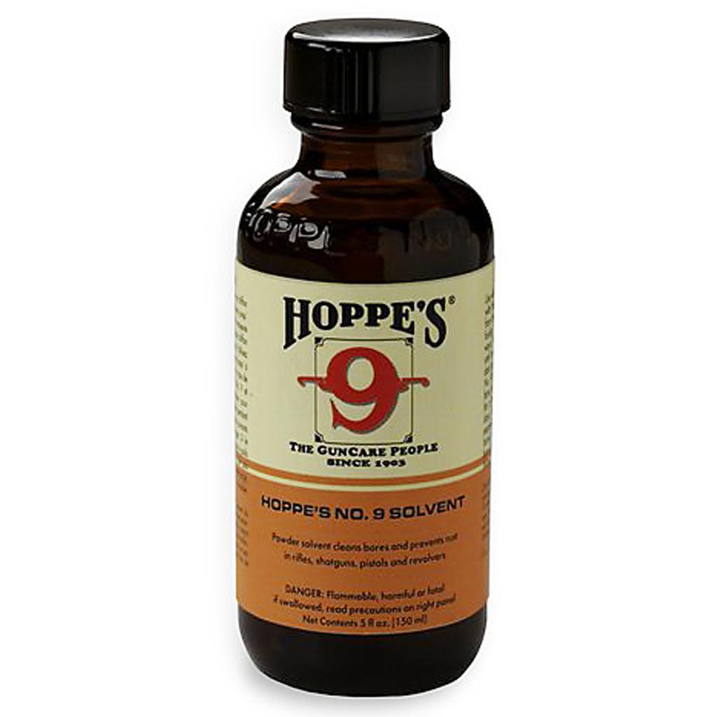 Hoppes No. 9 Gun Bore Cleaner  <br>  5 oz. Bottle Clamshell