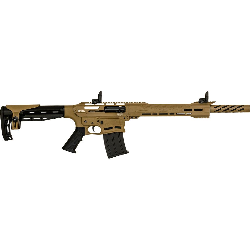 Citadel BOSS-25 Shotgun  <br>  12 ga. 20 in. Synthetic FDE Cerakote 3 in.
