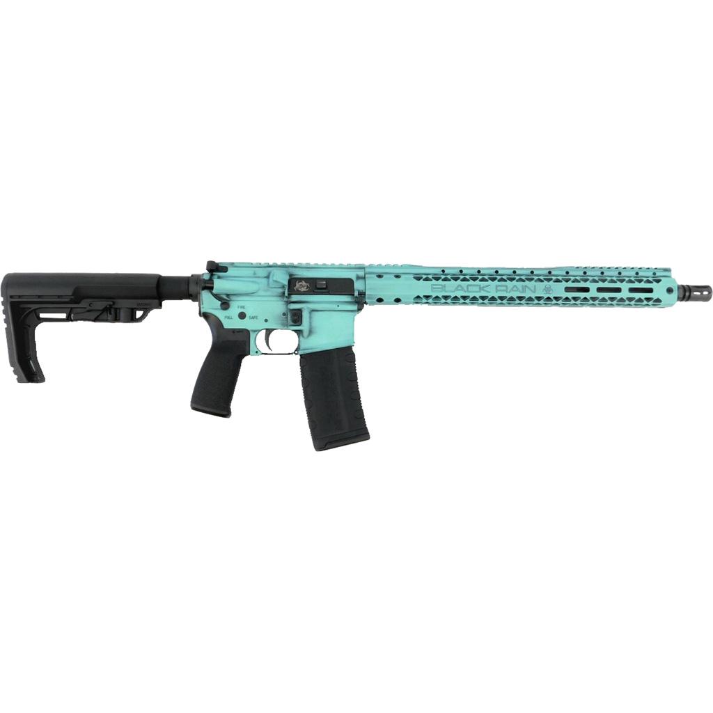 Black Rain Ordnance Spec15 Rifle  <br>  5.56 NATO 16 in. Tiffany Blue Battleworn