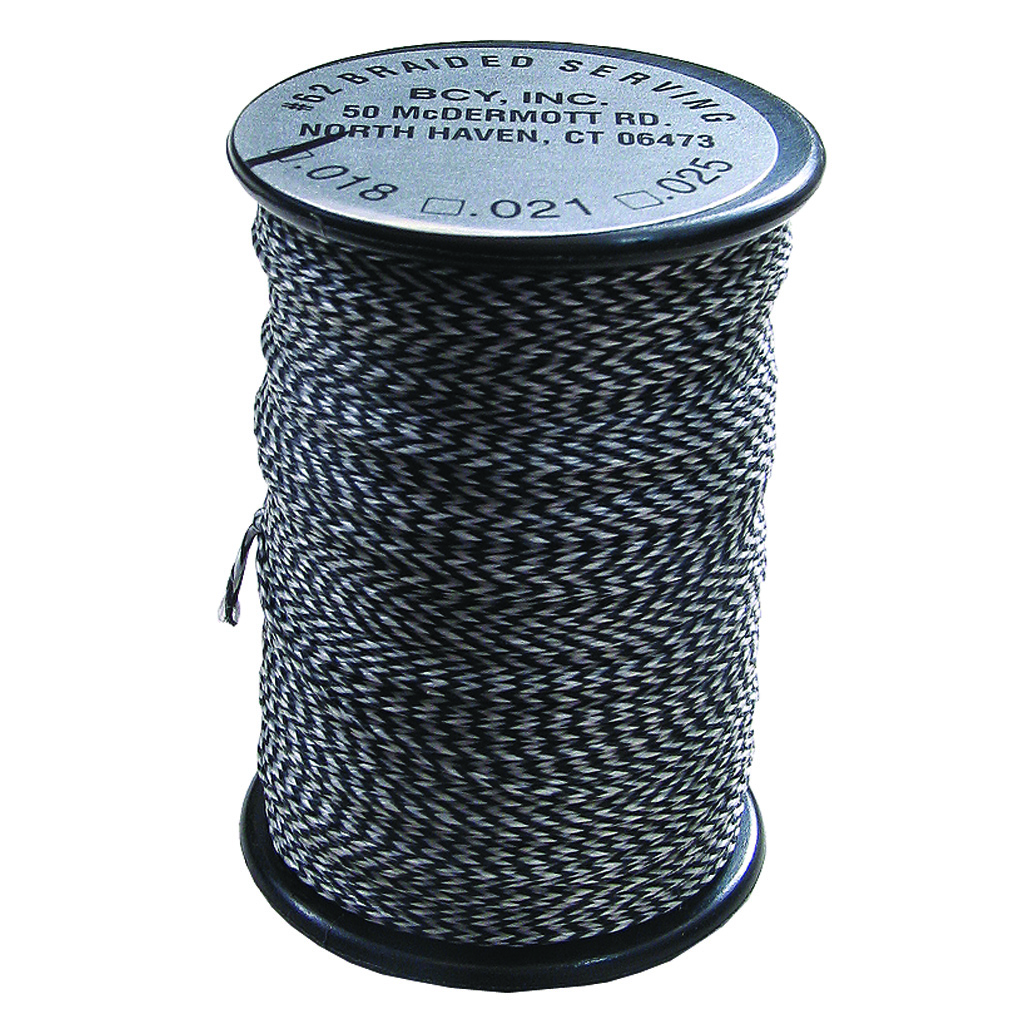 BCY Polygrip Center Serving  <br>  Grey .020 75 yds.