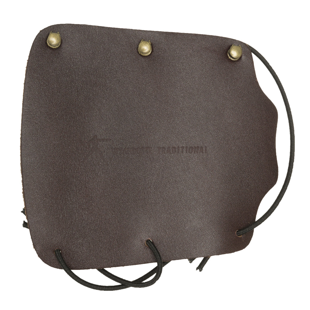 Wyandotte Leather Armguard  <br>  Brown Hook and Loop 5.5 in.