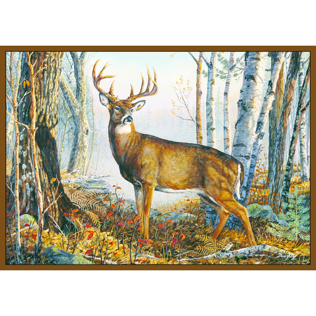 Custom Printed Rug  <br>  Whitetail Deer