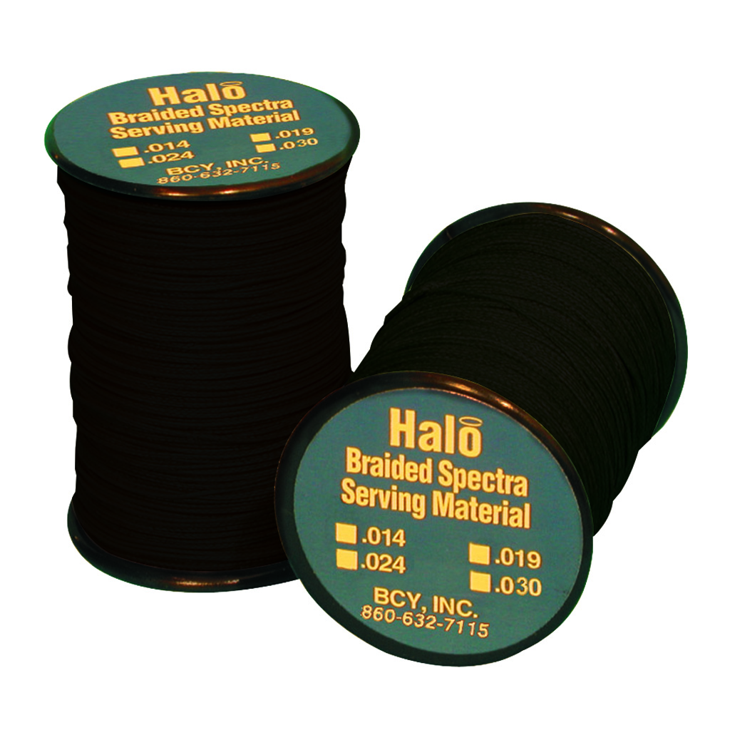 BCY Halo Serving  <br>  Black .014 120 yds.