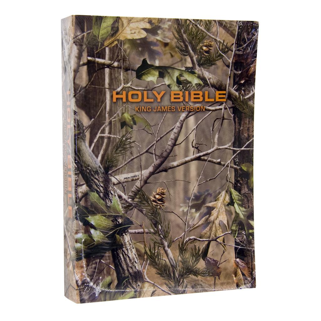 OSD Realtree Pocket Bible  <br>  King James Realtree AP Green