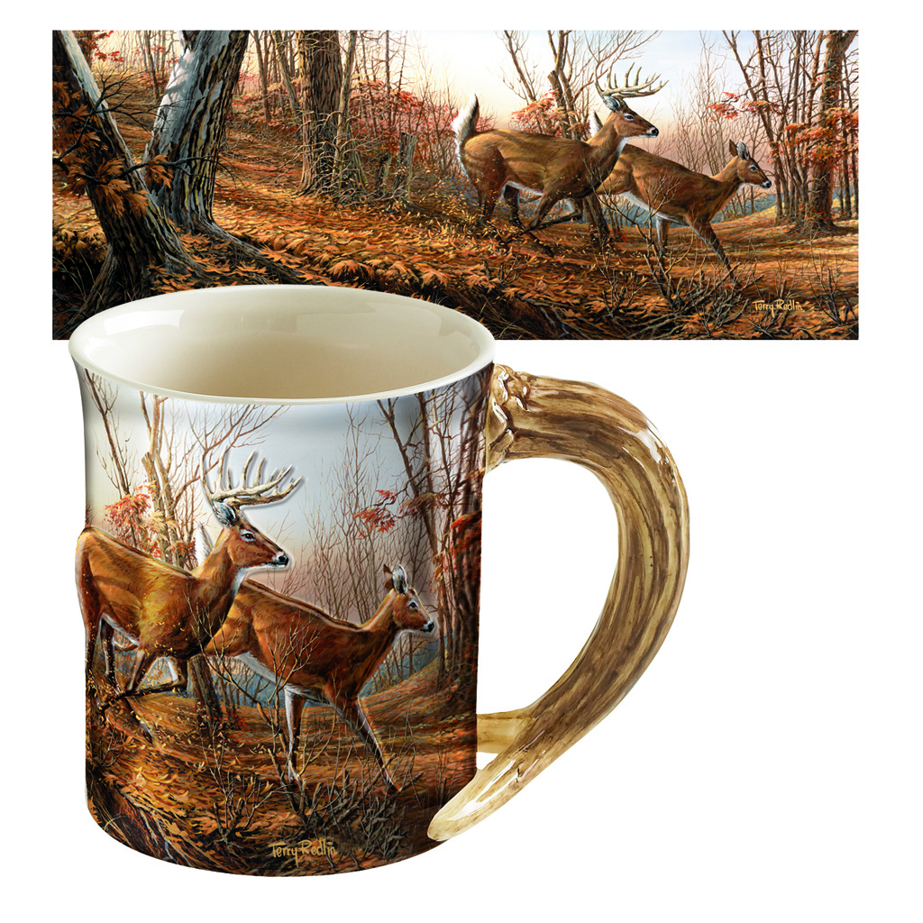 Wild Wings Sculpted Mug  <br>  Autumn Run
