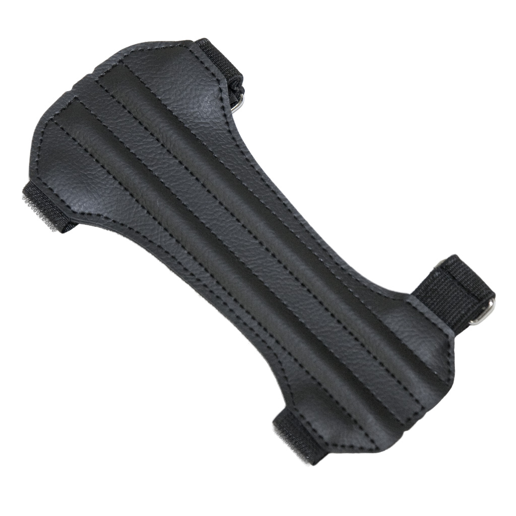October Mountain Arm Guard  <br>  2 Strap Hunter Black