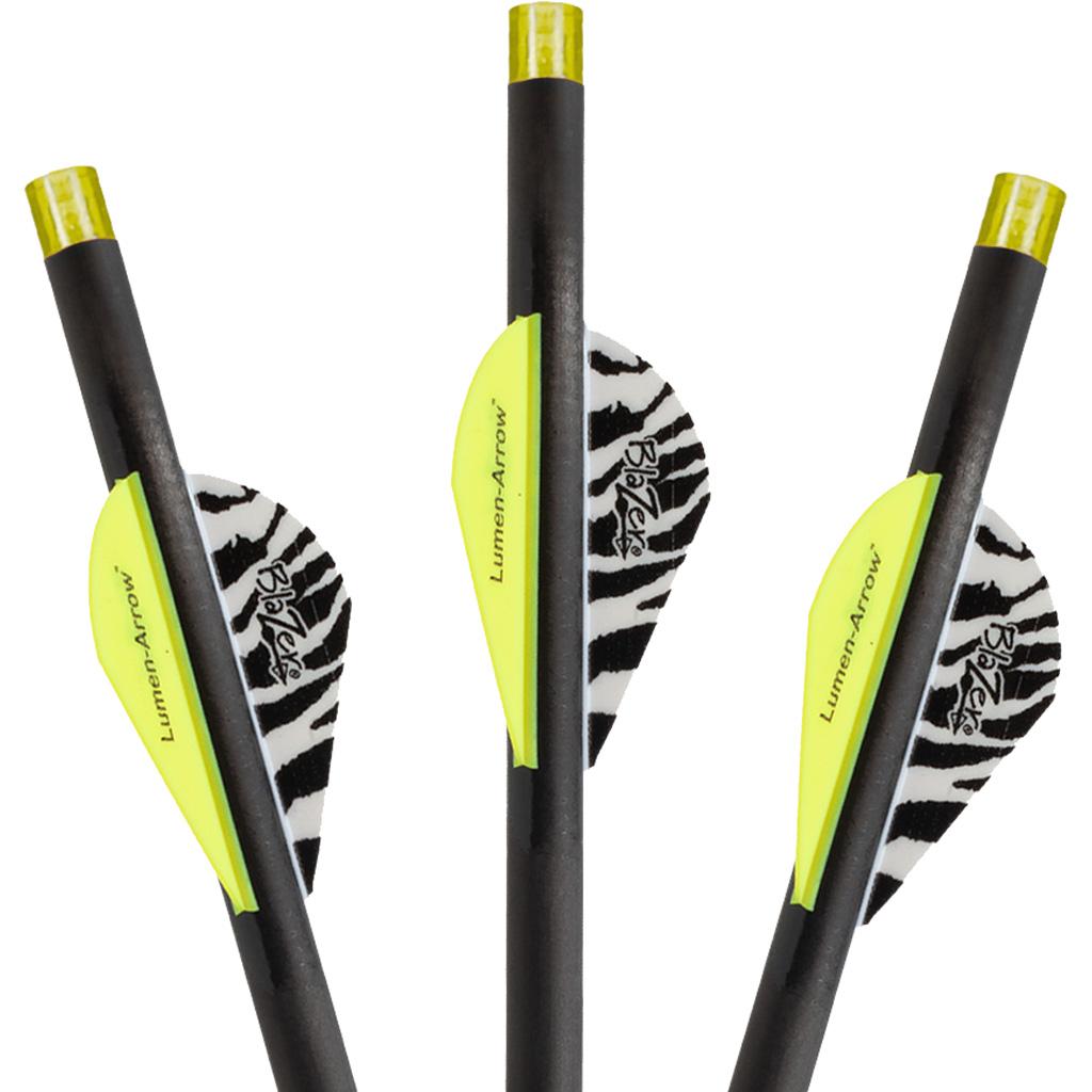 Lumenok Bolts Carbon HD Orange  <br>  w/Flat Nock 20 in. 3 pk