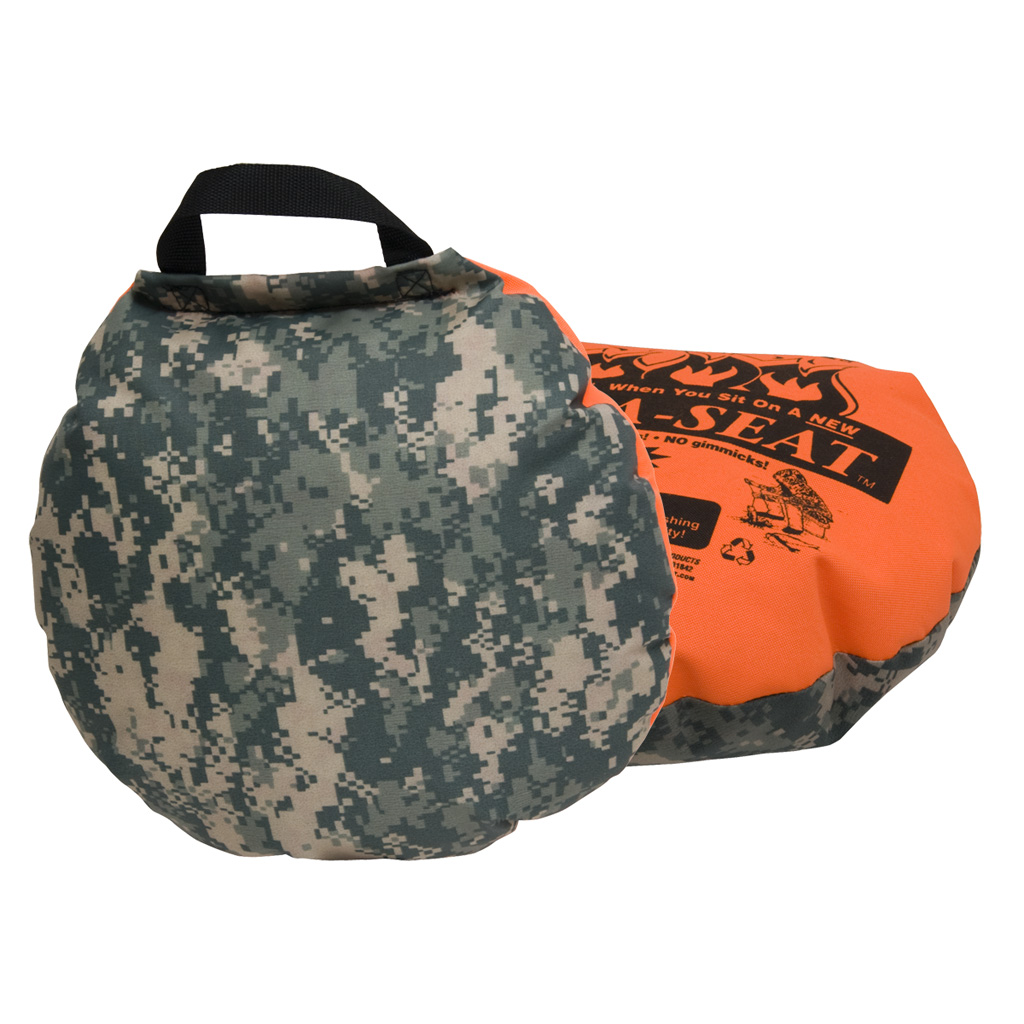 Therm-A-Seat Heat-A-Seat  <br>  Camouflage/Blaze Orange 17 in.
