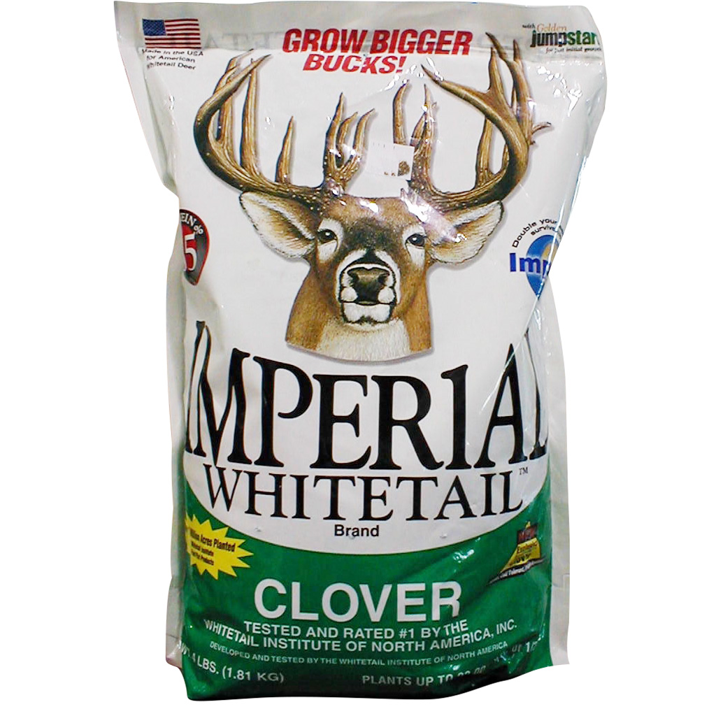 Whitetail Institute Imperial  <br>  Whitetail Clover .5 Acres 4 lb