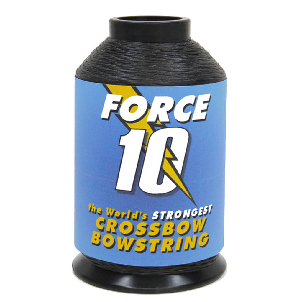 BCY Force 10 Crossbow String Material  <br>  Black 1/4 lb.