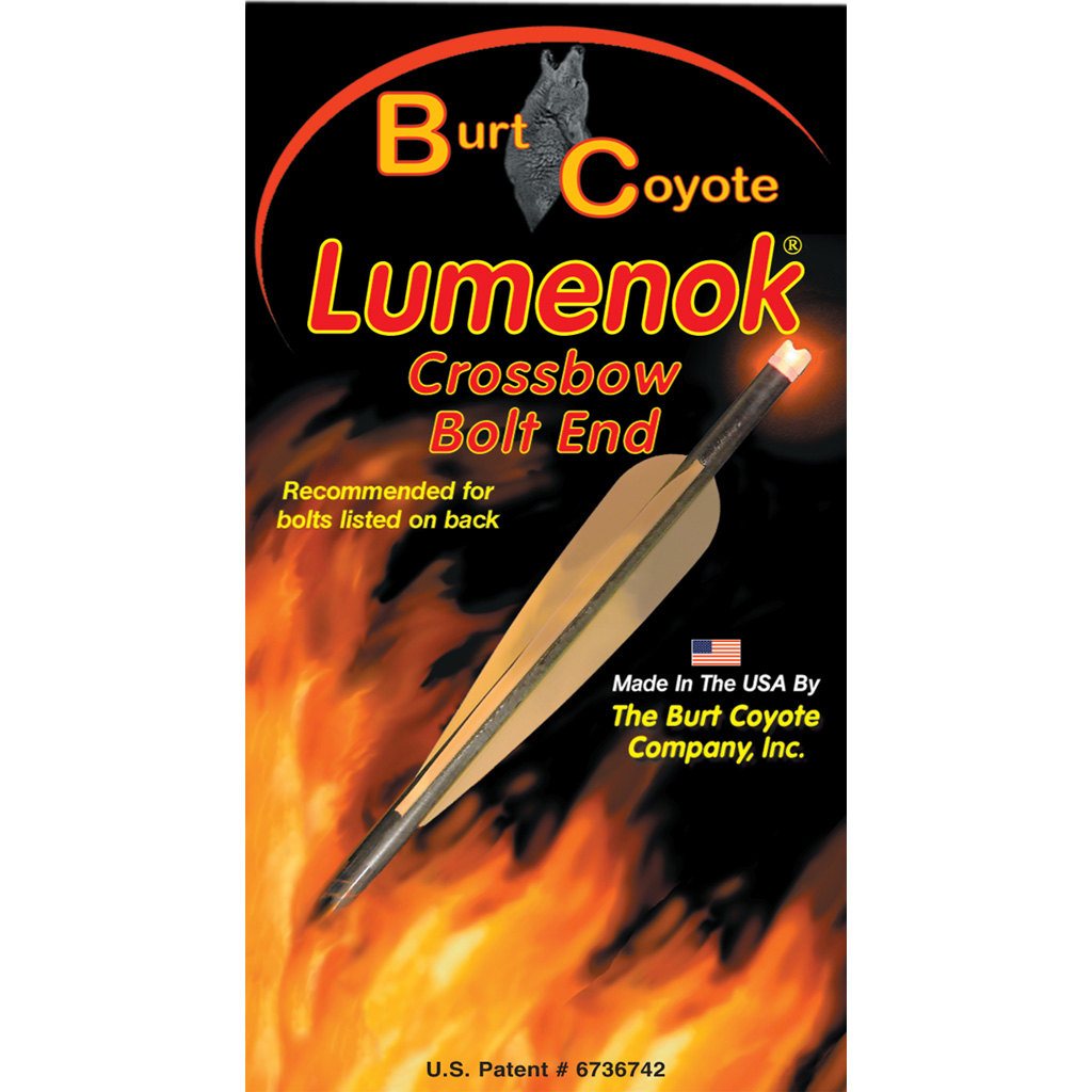 Lumenok Crossbow Nocks  <br>  HD Orange Moon Gold Tip 3 pk.