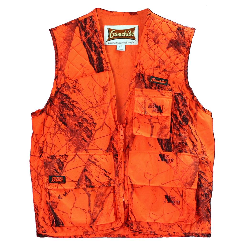 Gamehide Sneaker Big Game Vest  <br>  Blaze Camo 2X-Large