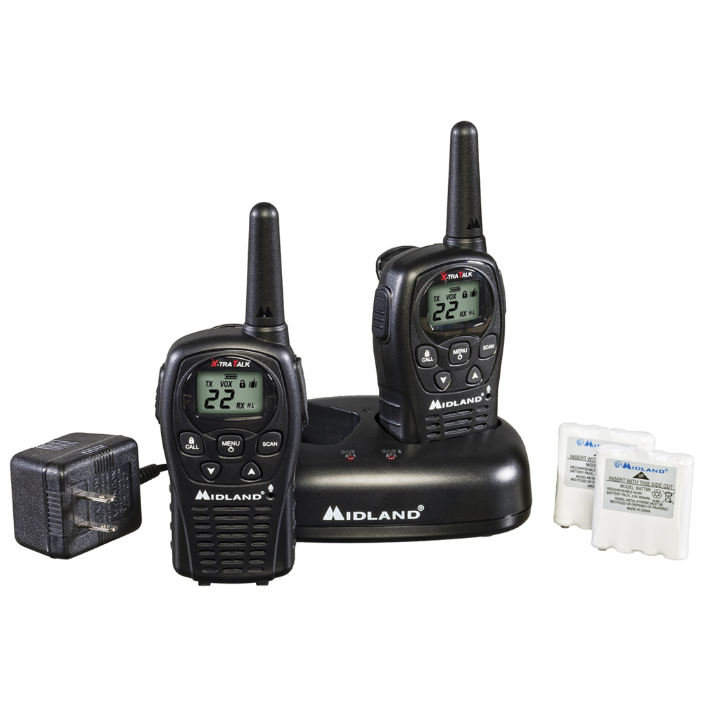 Midland LXT500VP3 2 Way Radio  <br>  w/Batteries & Charger