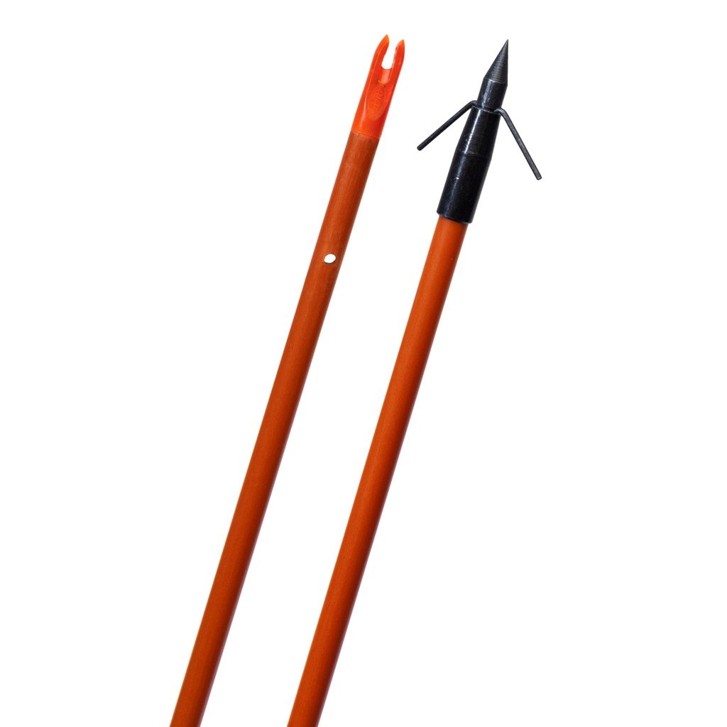 Fin Finder Raider Bowfishing Arrow  <br>  Orange w/Typhoon Point