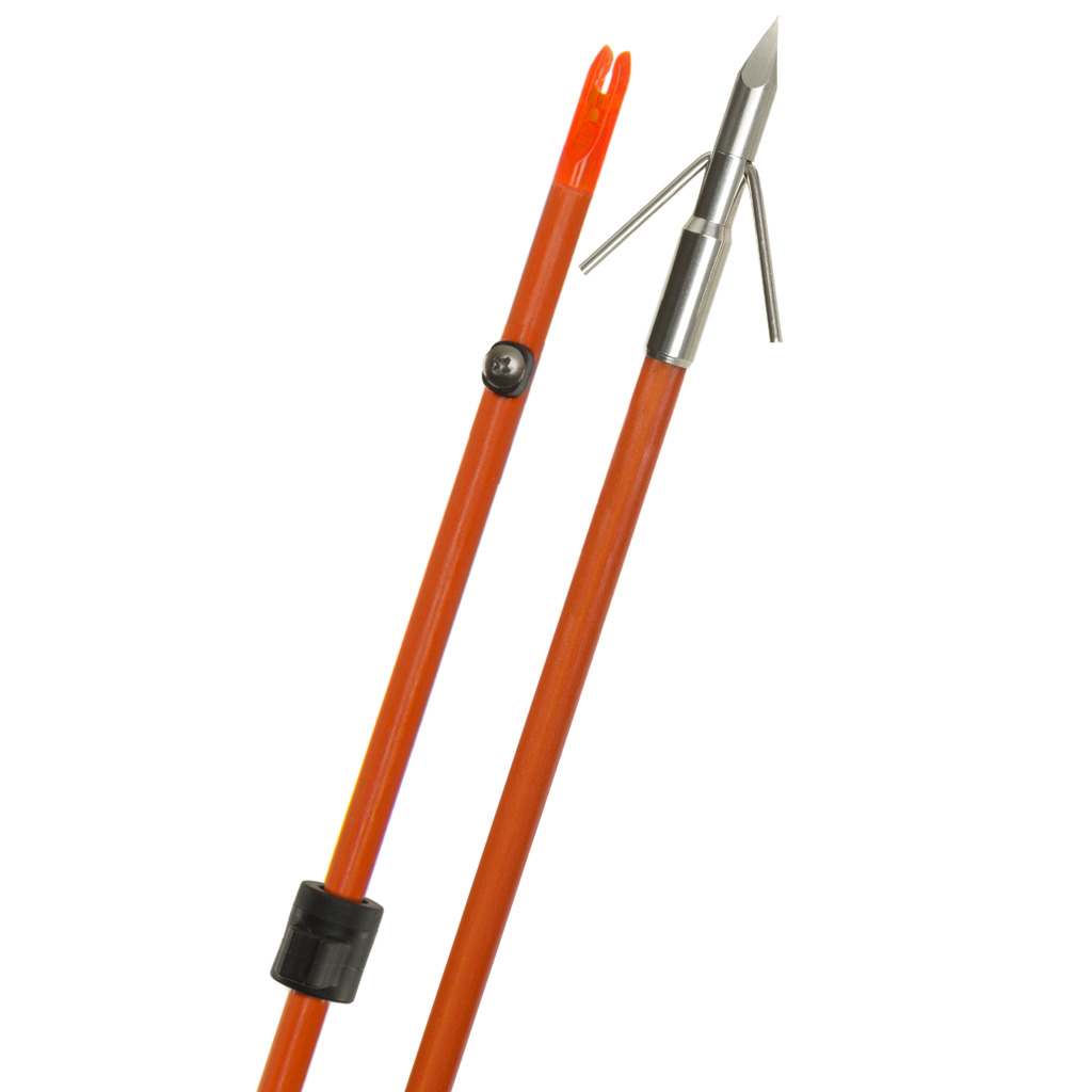 Fin Finder Raider Pro Bowfishing Arrow  <br>  Orange w/Riptide Point