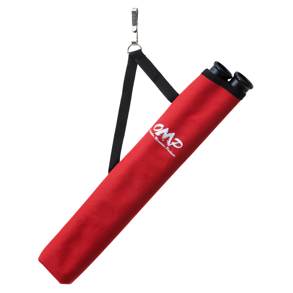 October Mountain Hip Quiver  <br>  Red 2 Tube RH/LH