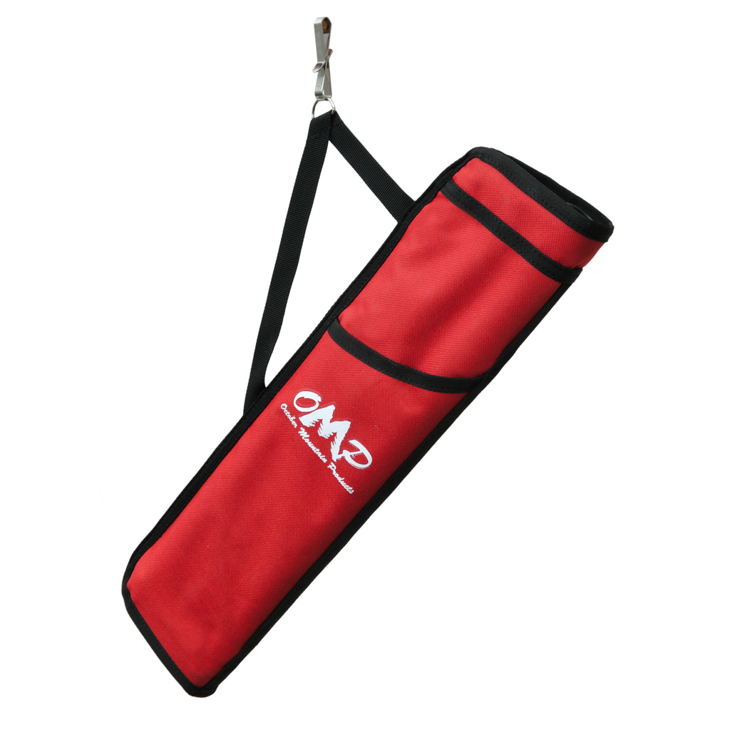 October Mountain Hip Quiver  <br>  Red 3 Tube RH/LH