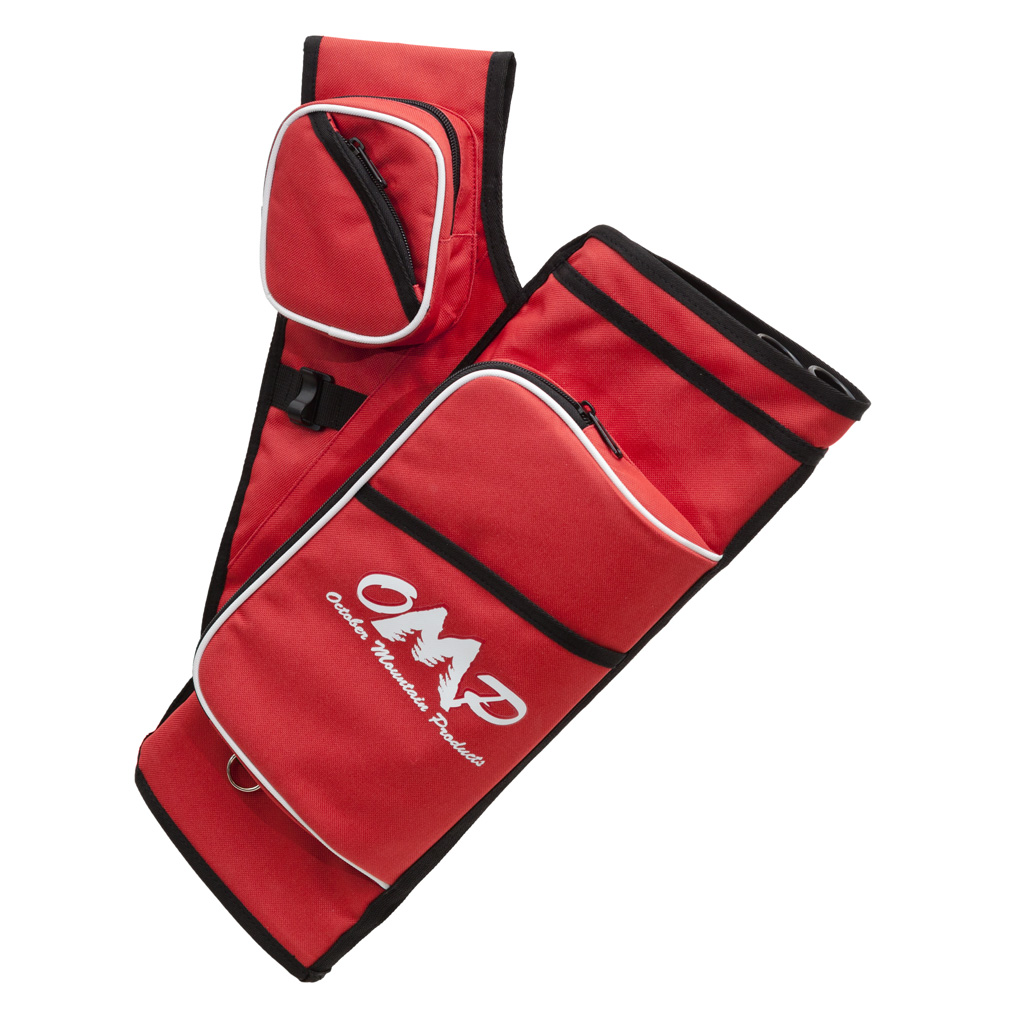 October Mountain Hip Quiver Pro  <br>  Red 5 Tube RH
