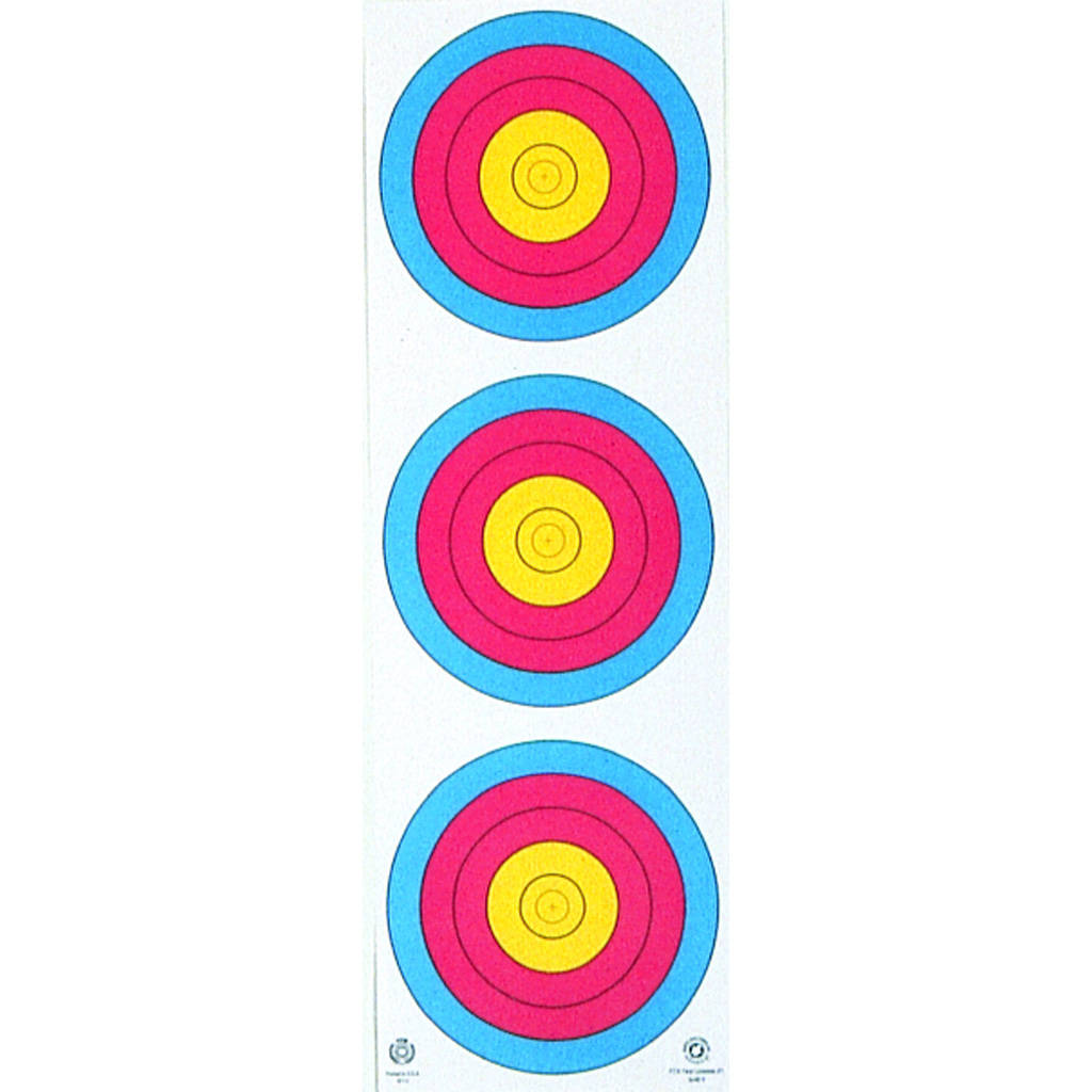 Maple Leaf Vertical Target  <br>  3-Spot 25 pk.
