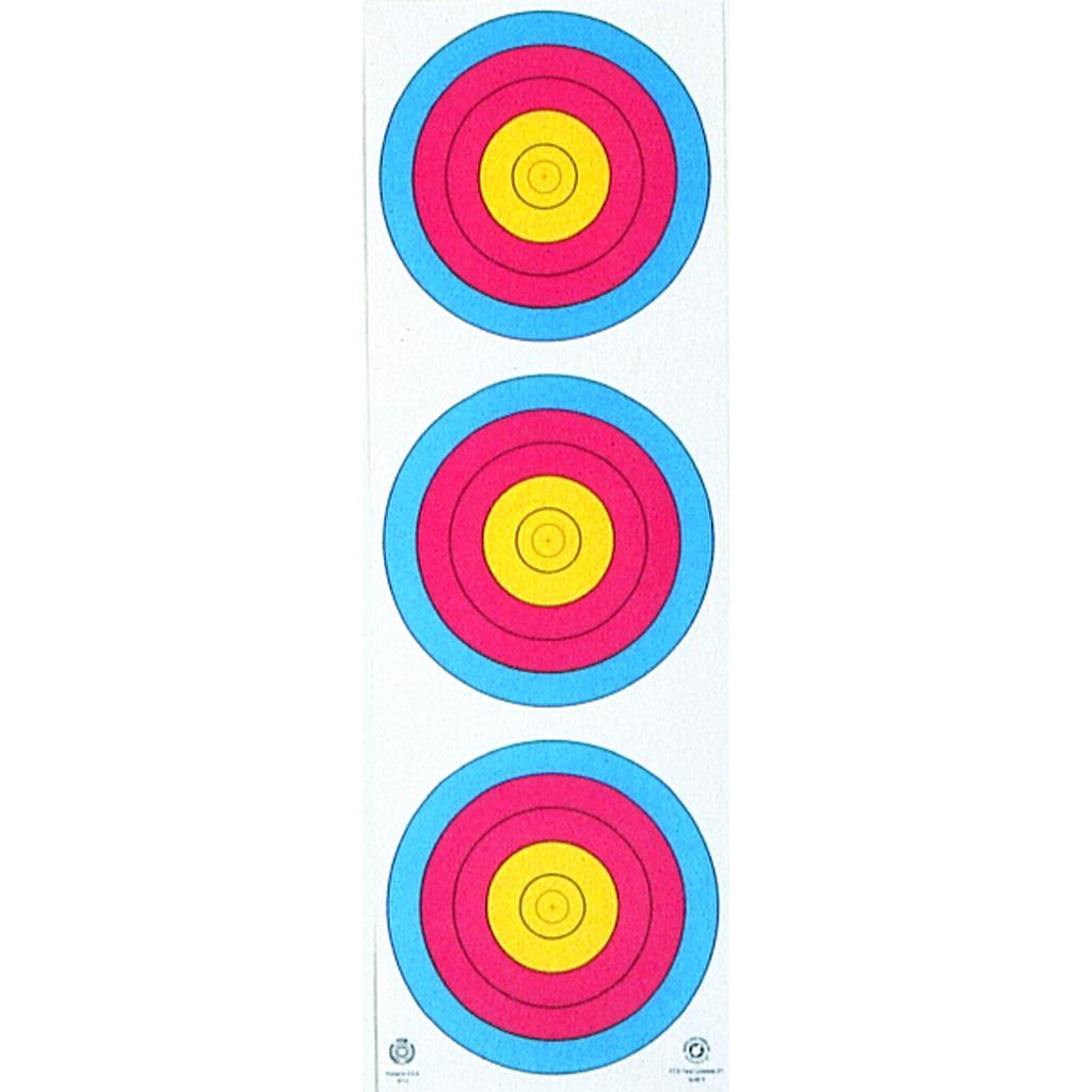 Maple Leaf Target Face  <br>  3-Spot Vertical 25 pk.