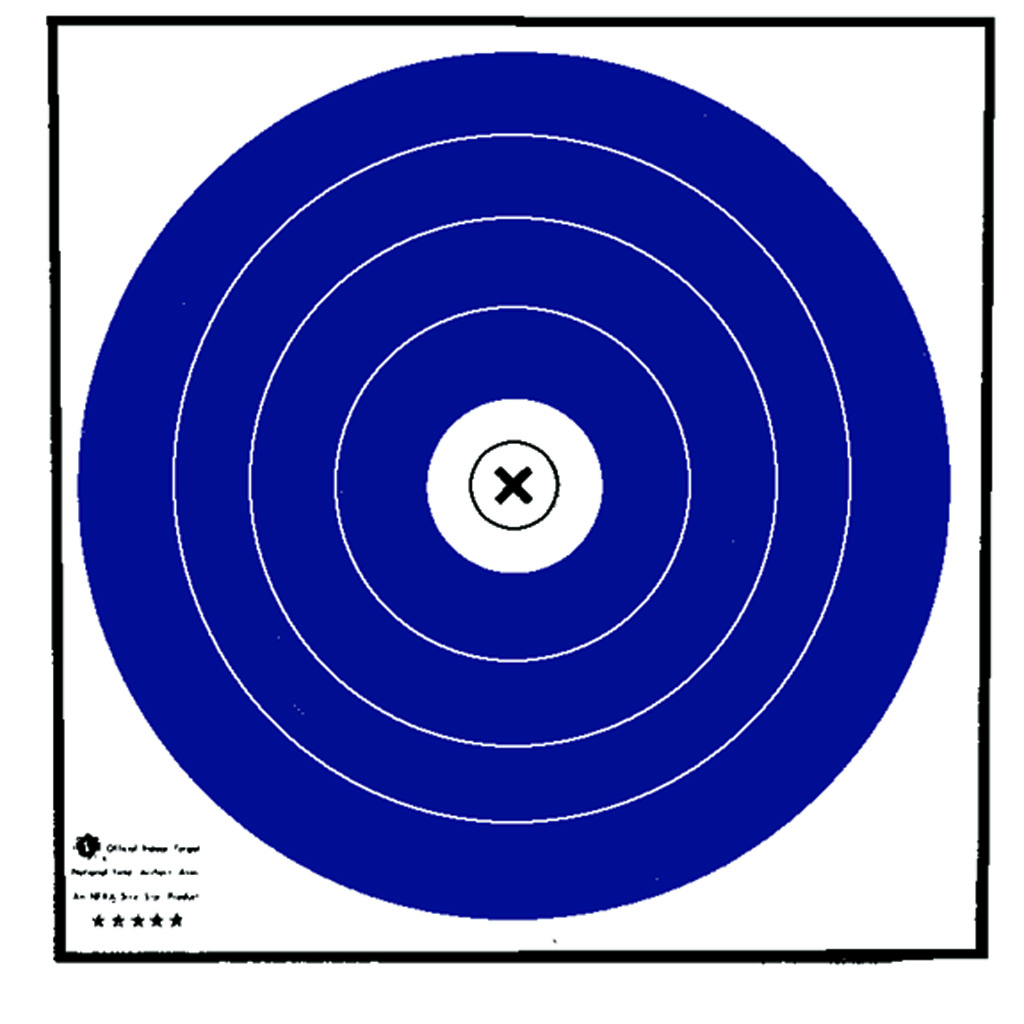 Maple Leaf NFAA Indoor Target  <br>  Blue/White 40 cm. 100 pk.