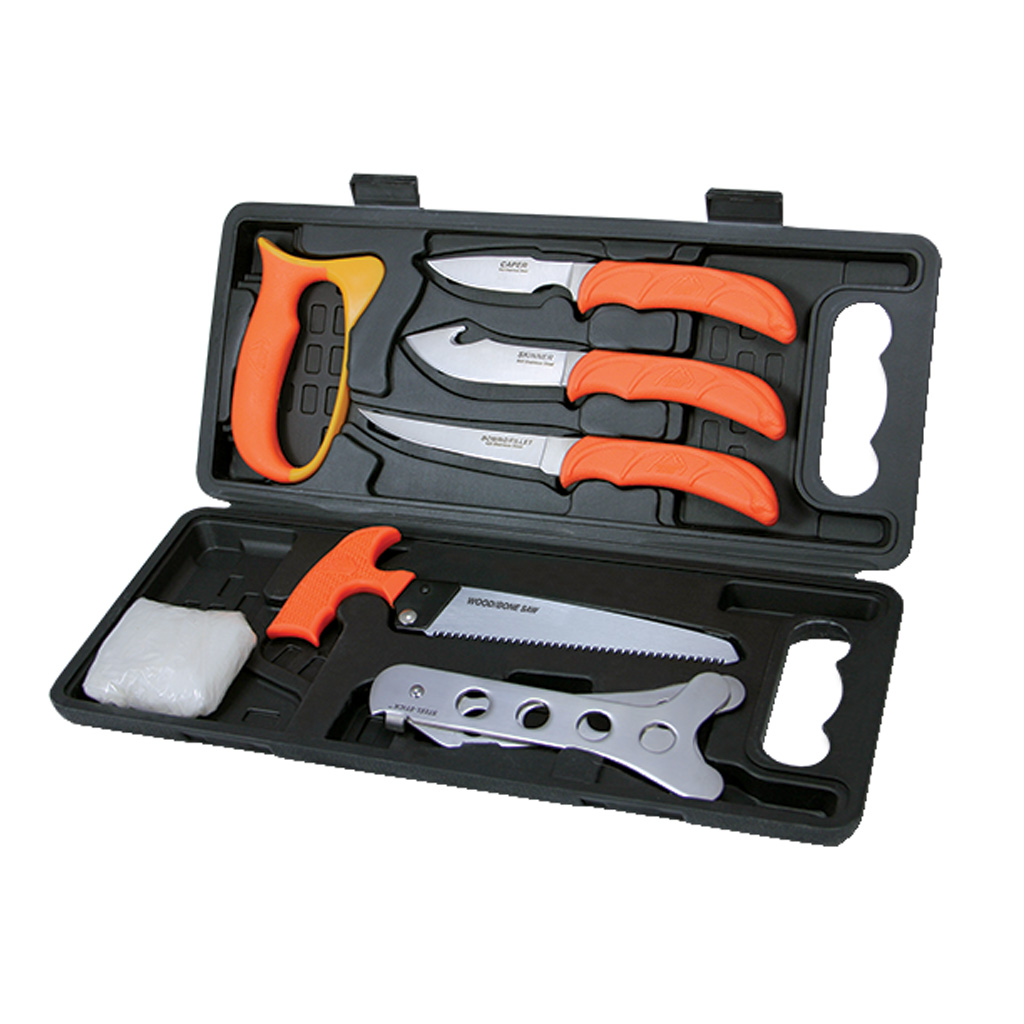 Outdoor Edge Wild-Pak  <br>  Butcher Kit 8 Piece Set