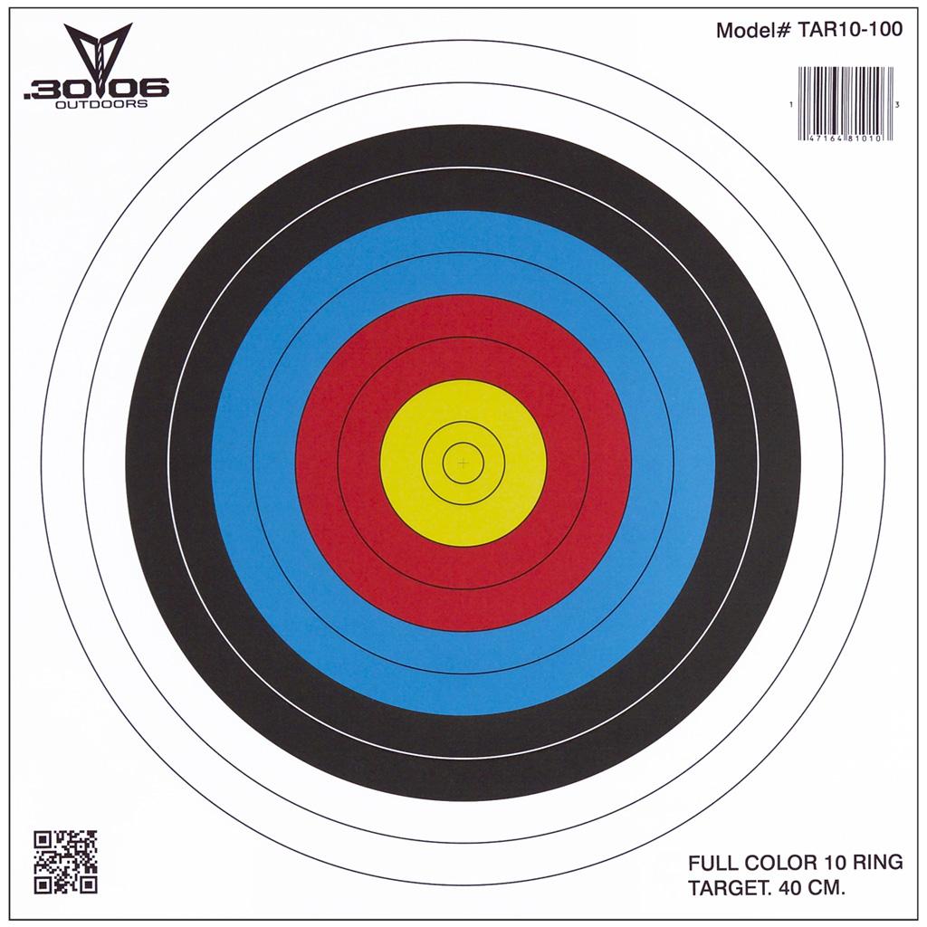 30-06 Paper Targets  <br>  40 cm 10 Ring 100 pk.