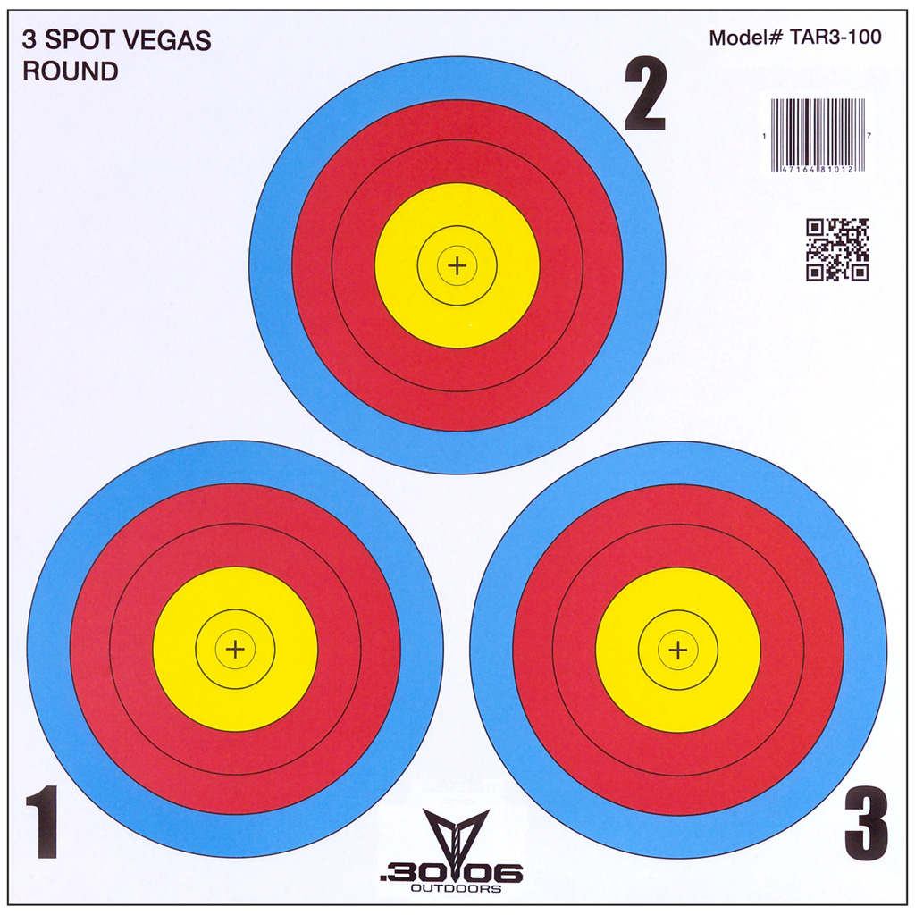 30-06 3 Spot Vegas Targets  <br>  100 pk.