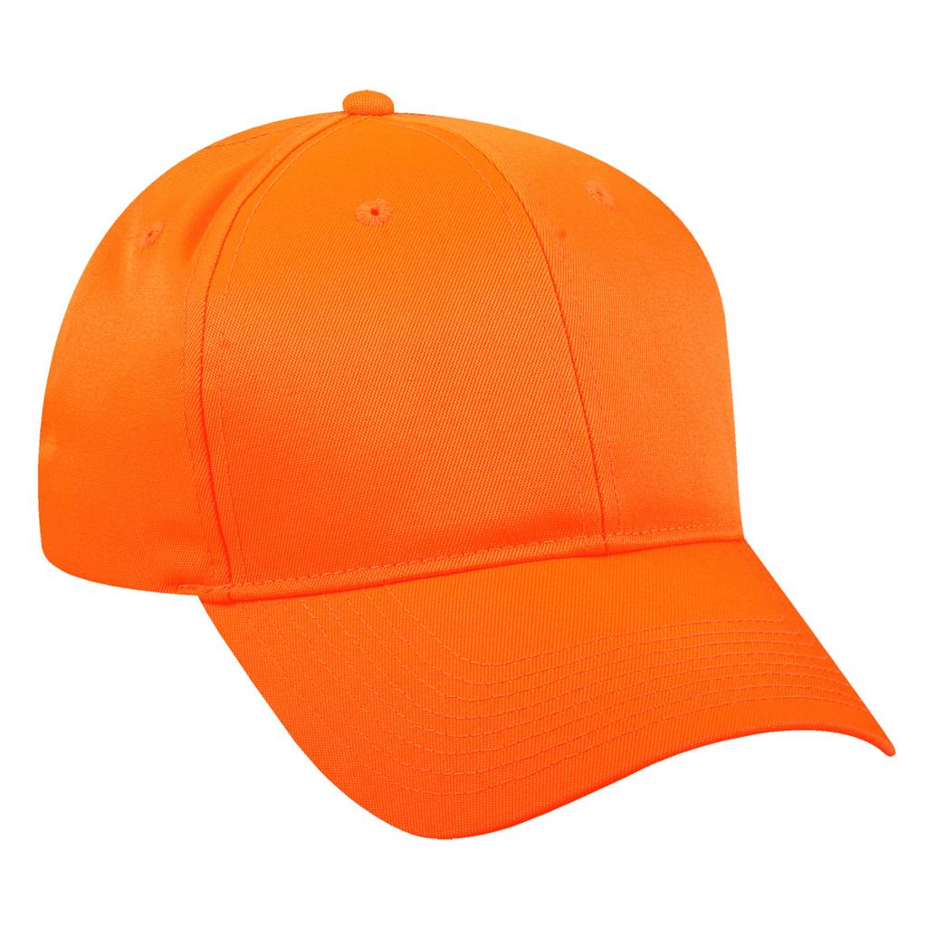 Outdoor Cap Mid Profile Hat  <br>  Blaze Orange Youth Size