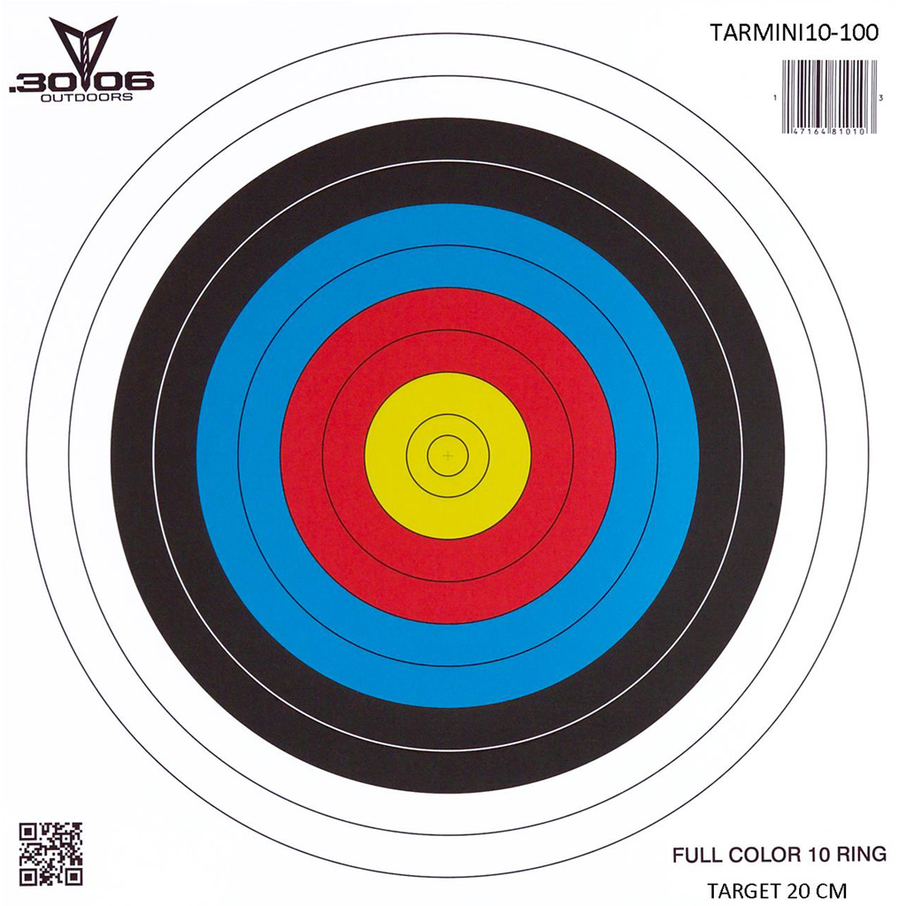 30-06 Mini Paper Target  <br>  10 Ring 100 pk.