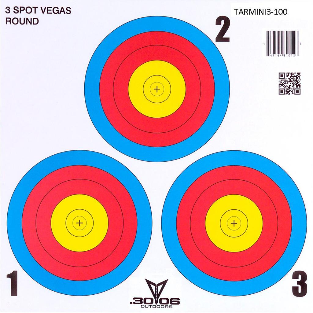 30-06 Mini Paper Target  <br>  3 Spot Vegas 100 pk.