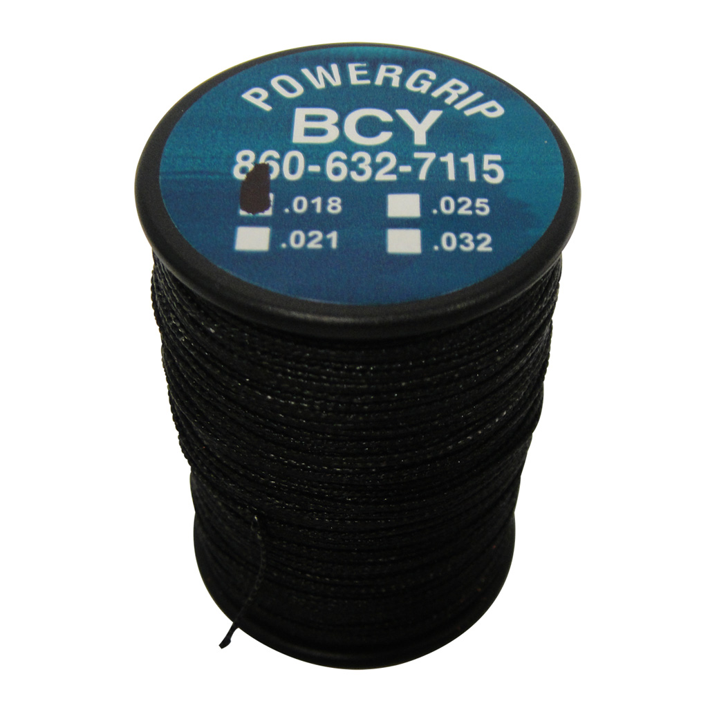 BCY Power Grip Serving  <br>  Black .018 100 yds.
