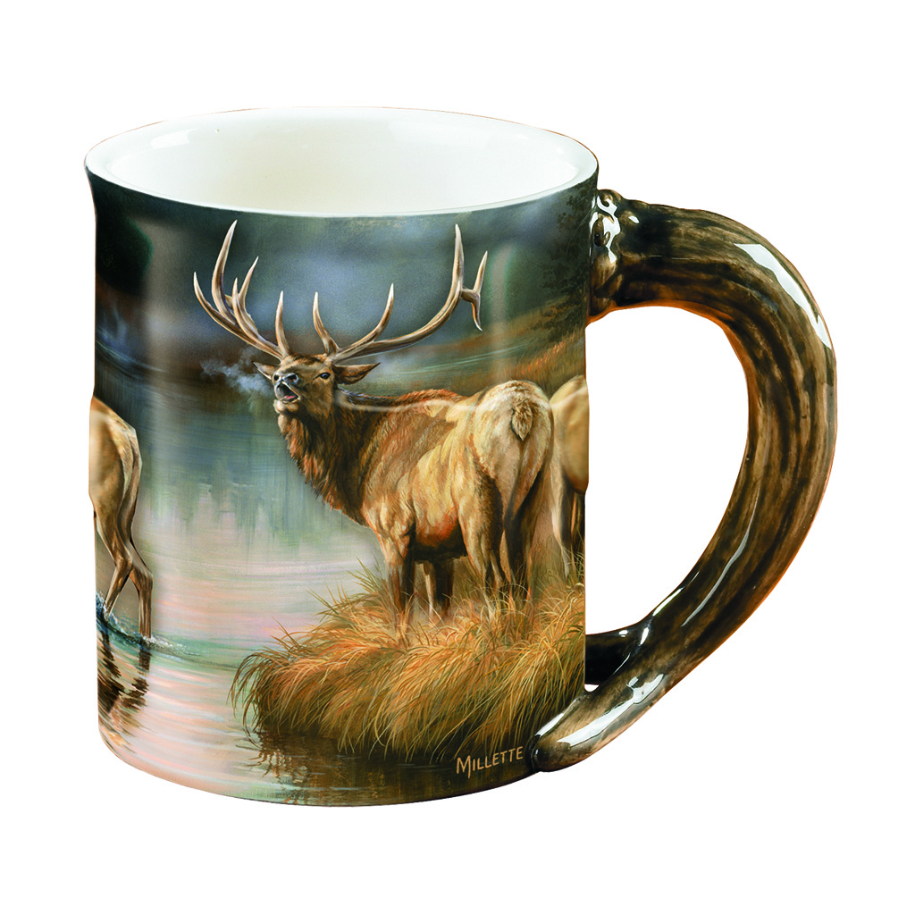 Wild Wings Sculpted Mug  <br>  Autumn Mist Elk