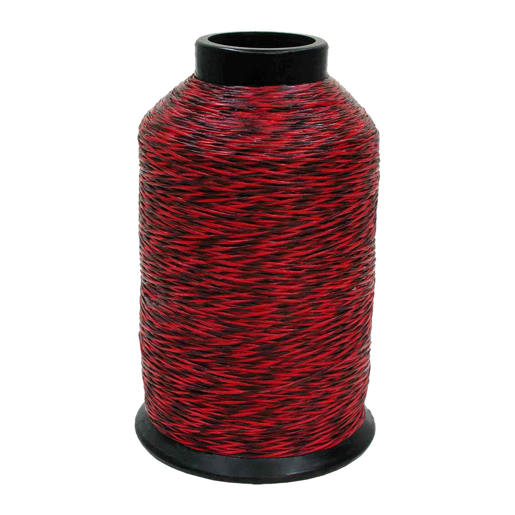 BCY 452X Bowstring Material  <br>  Red/Black 1/8 lb.