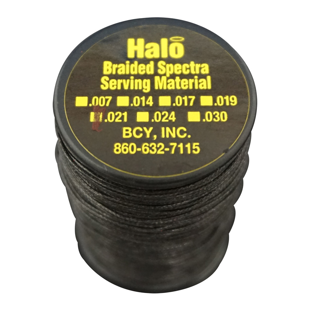 BCY Halo Serving  <br>  Black .021 75 yds.