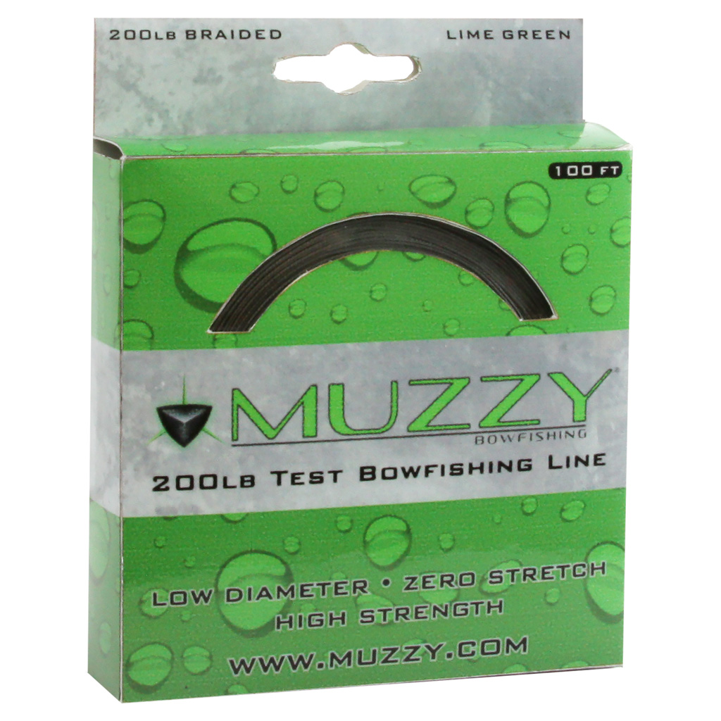 Muzzy Bowfishing Line  <br>  Lime Green 200 lb. 100 ft.