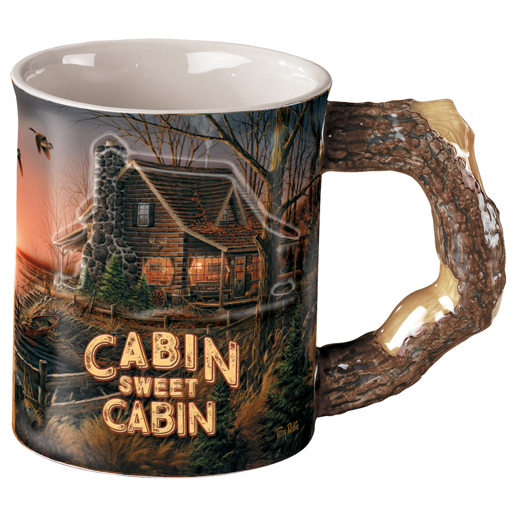 Wild Wings Sculpted Mug  <br>  Cabin Sweet Cabin
