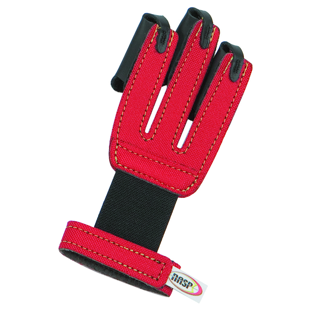 Neet NASP Youth Shooting Glove  <br>  Red Youth Small