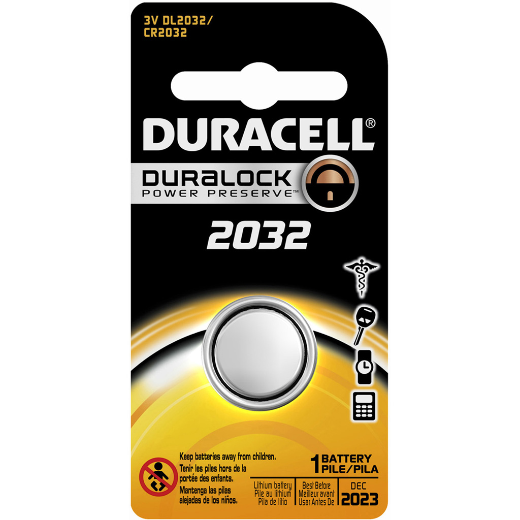 Duracell Lithium Coin Battery  <br>  2032 1 pk.