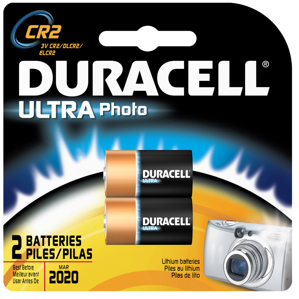 Duracell Lithium Battery  <br>  CR2 2 pk.