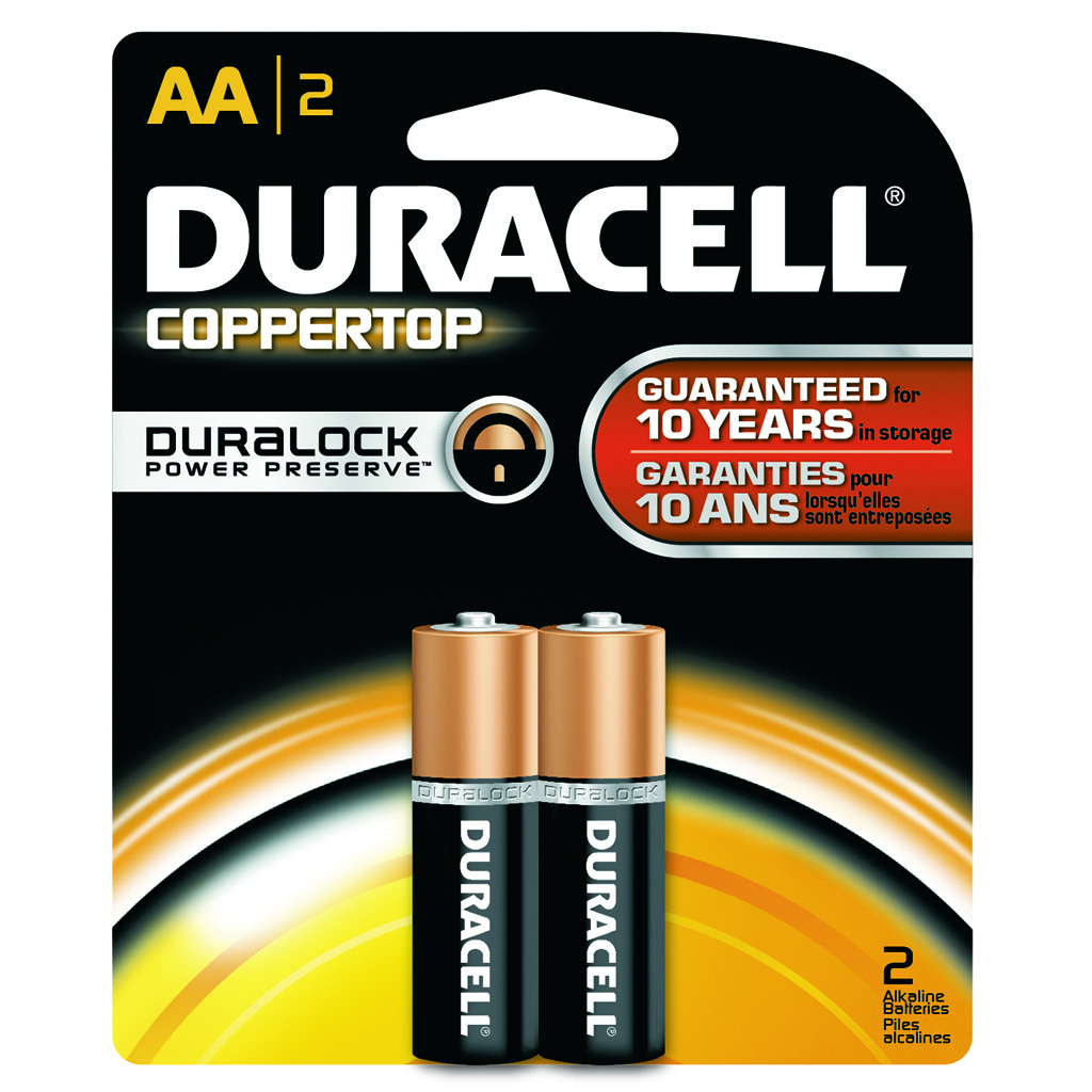 Duracell Coppertop Batteries  <br>  AA 2 pk.