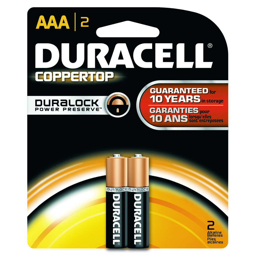 Duracell Coppertop Battery  <br>  AAA 2 pk.