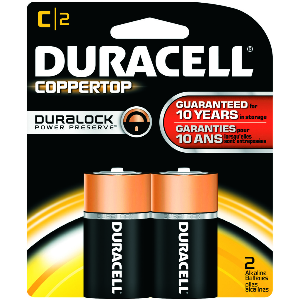 Duracell Coppertop Battery  <br>  C 2 pk.